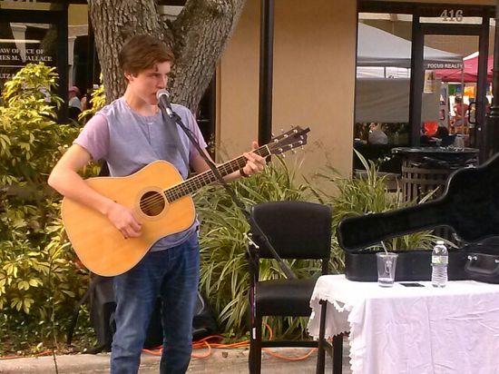 Sam woolf at downtown bradenton #american Idol