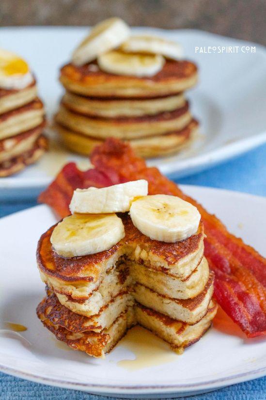 Paleo Banana Pancakes:: PaleoSpirit.com (Gluten/Grain/Dairy-Free)