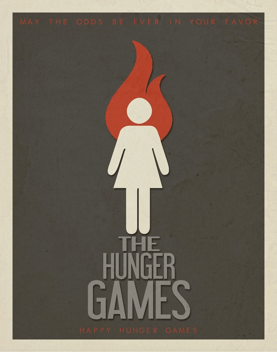 "The Hunger Games Minimalist Movie Poster 11"" x 14"". $15.00, via Etsy."