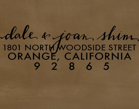 On our wishlists: Custom address stamps.