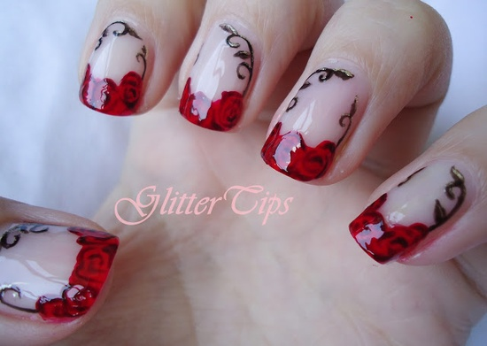 Glitter Tips #nail #nails #nailart