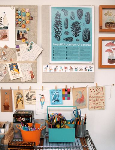 Studio. Like the inspiration boards.