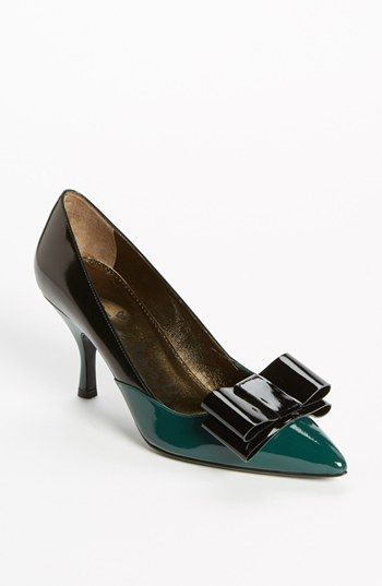 Lanvin Bow Detail Bicolor Pump available at #Nordstrom