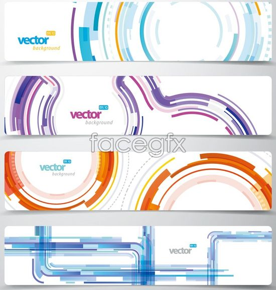 Creative graphic banner vector graphic