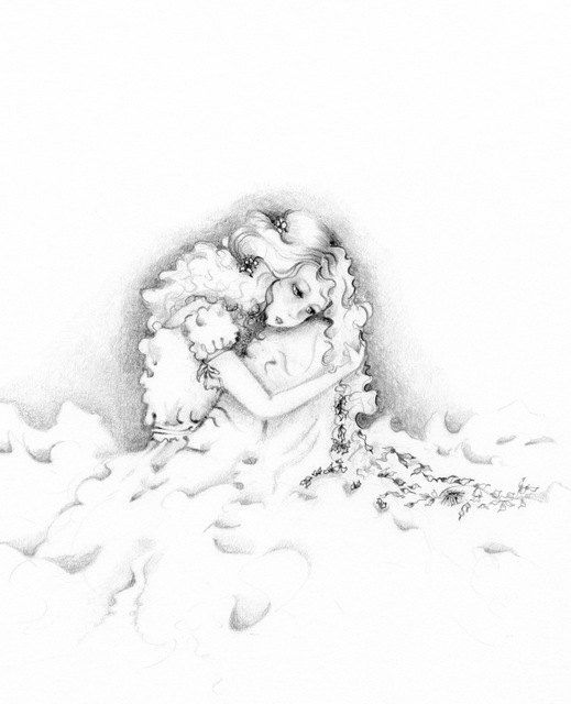 Pencil Drawing Illustration Black and White by ABitofWhimsyArt,