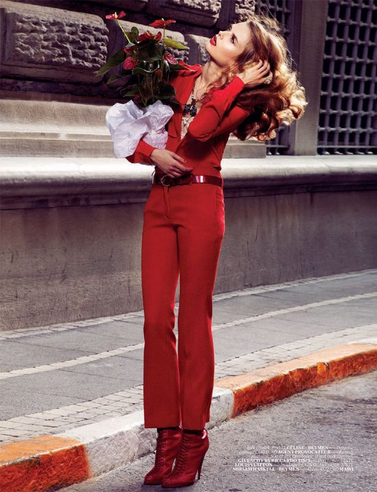 Red Suit. #fashion #editorial