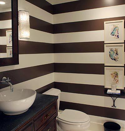 Stripe It Rich < Our 50 Favorite Bathrooms - MyHomeIdeas.com