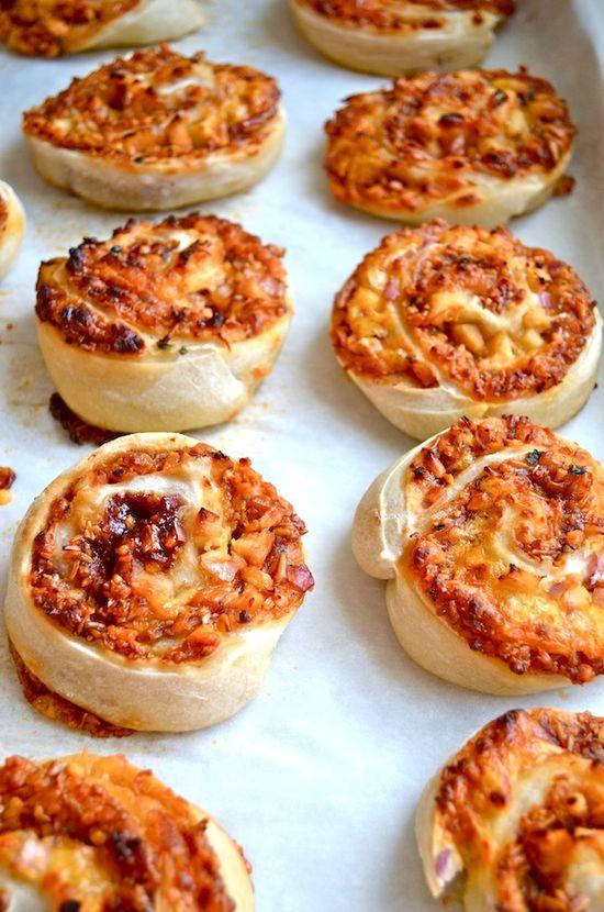 BBQ Chicken Pizza Pinwheels by Rachel Schultz