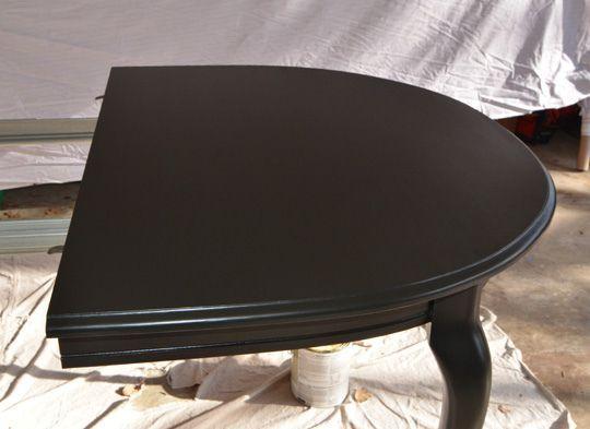 Satin Black DIY painted furniture