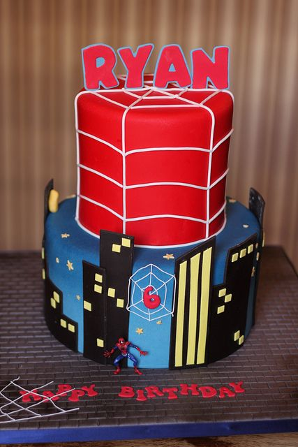 Superhero birthday cake by Andrea's SweetCakes