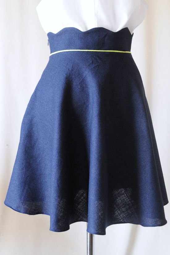 scalloped waist skirt! ?