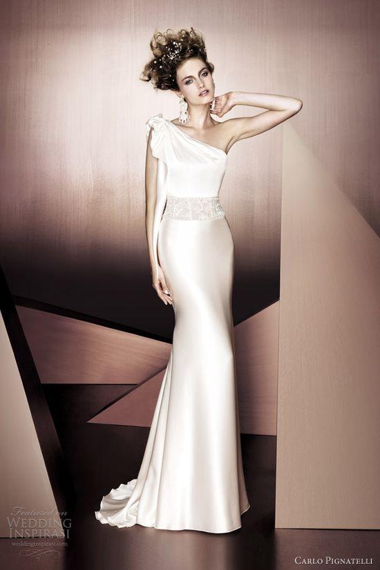 Carlo Pignatelli 2012 one shoulder gown.  LOVE!!!