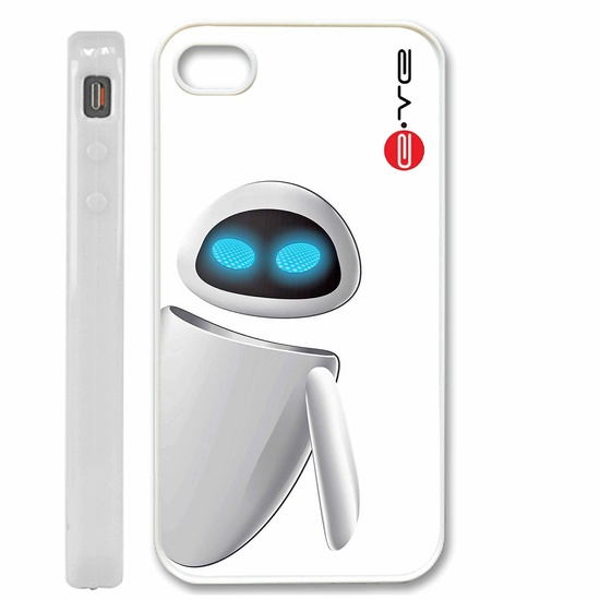 Eve robot Disney Wall-e iPhone 4 / 4S, iPhone 5 case, Samsung S2 / S3 Case - Black / White