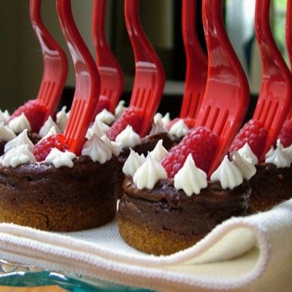 Mini Chocolate Cheesecake Appetizers
