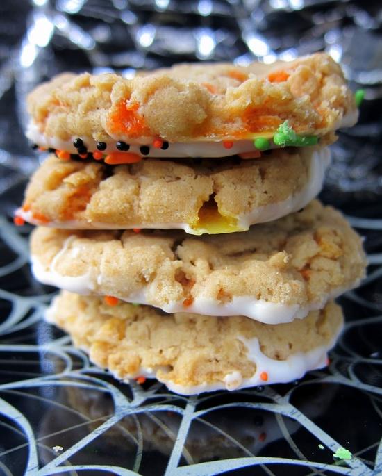 Peanut Butter Candy Corn Crunchies