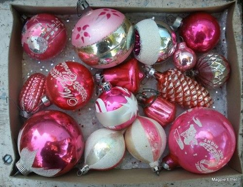 love my pink christmas ornaments