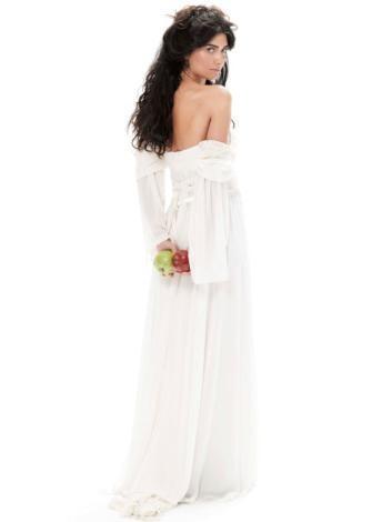 Hippie wedding dress.