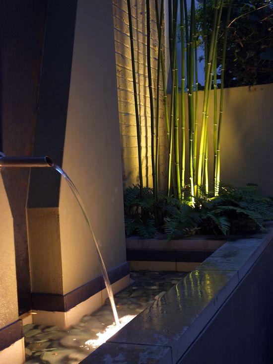 #Small #garden #design #lighting