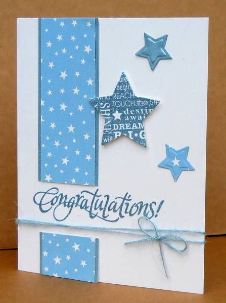 Graduation Stars for Emma by susanbri - Cards and Paper Crafts at Splitcoaststampers make a nice baby card also