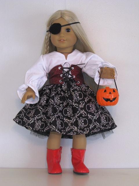 Pirate costume - 18 inch doll