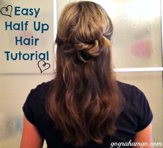 Easy Half Up Hair Tutorial