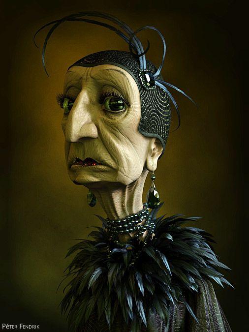 Bird lady 3d grpahics