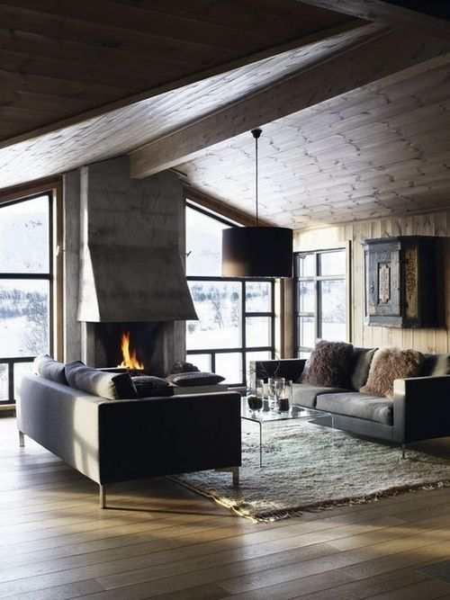 Fireplace in the living room #living room #interior