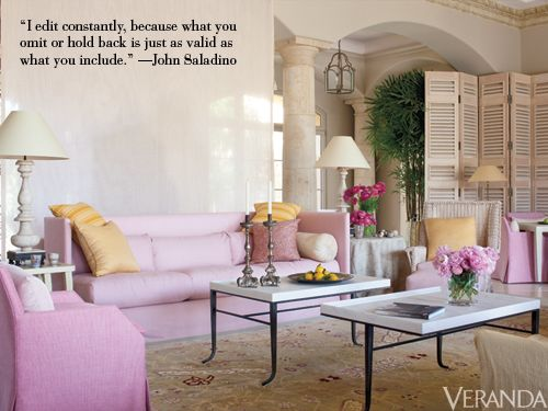 John Saladino shares his No. 1 rule for decorating