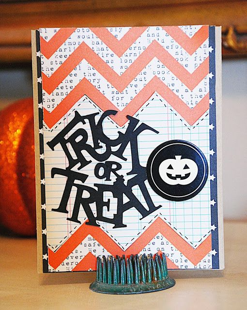Spotted: Handmade Halloween card using AC @Target exclusive craft products #Halloween #Cards #handmade #craft #americancrafts
