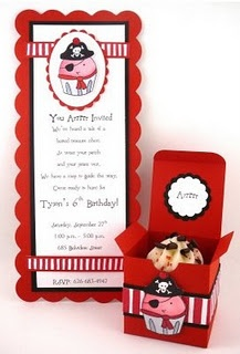 Cute pirate invite (
