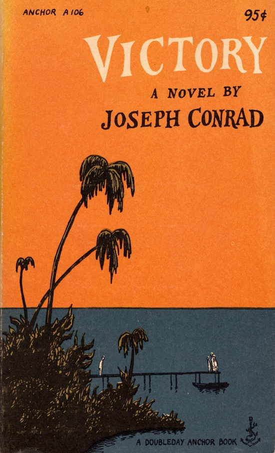 Victory by Joseph Conrad with a cover by Edward Gorey. 9.75, via Etsy.