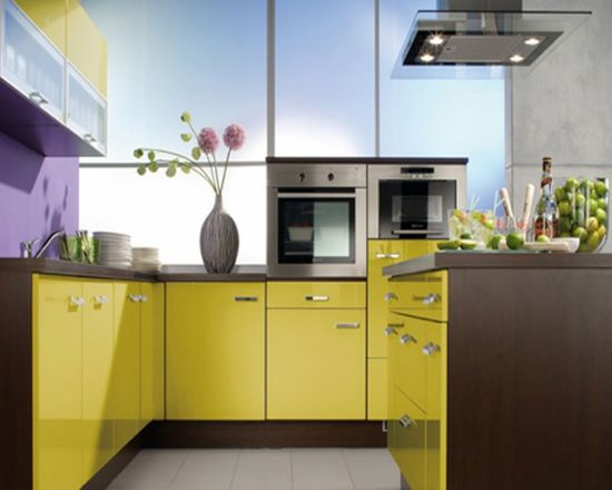 Colorful Modern Kitchen Design Ideas Island