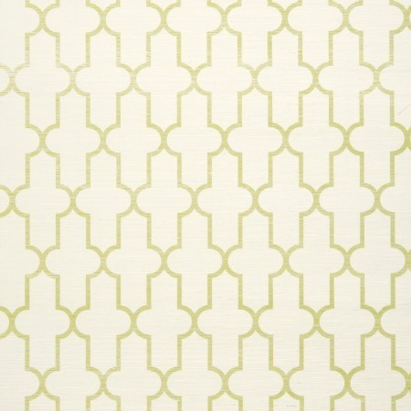 printed grasscloth in moroccan green
