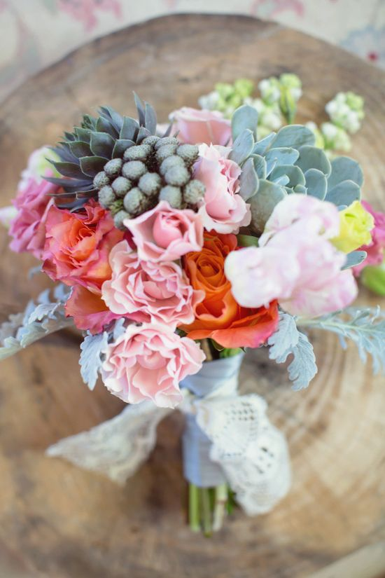 Beautiful bouquet with succulents