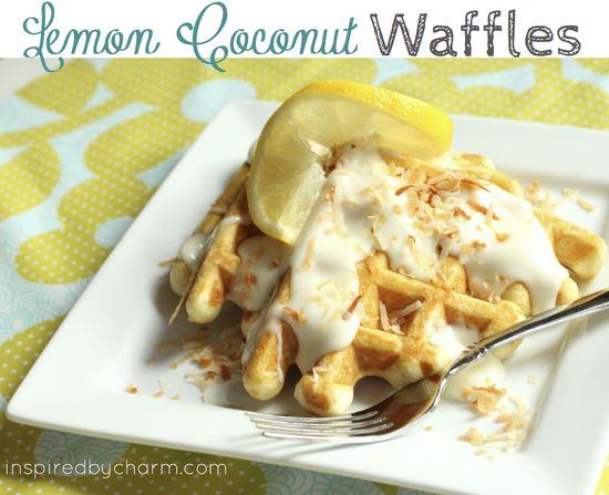 Lemon Coconut Waffles