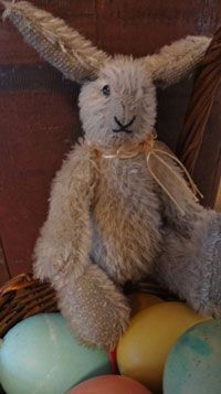 AABM005 Hand Made Mohair Rabbit