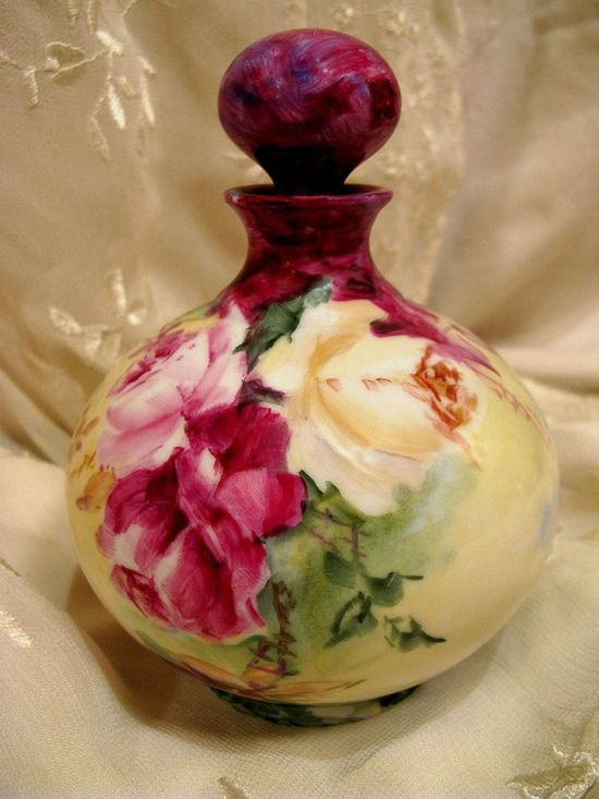 A French Treasure Limoges Perfume Bottle....#roses
