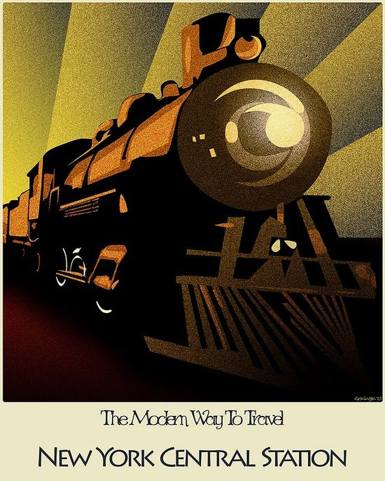 #The Modern Way to Travel :: New York Central Station #vintage #travel #poster #USA  #Travel Posters multicityworldtra... We cover the world over 220 countries, 26 languages and 120 currencies Hotel and Flight deals.guarantee the best price