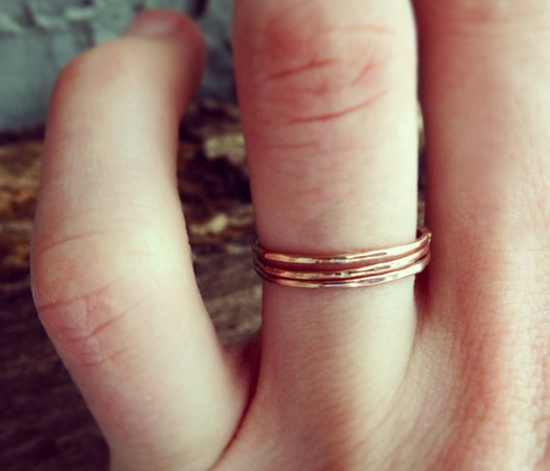 Delicate Rose Gold Stacking Rings