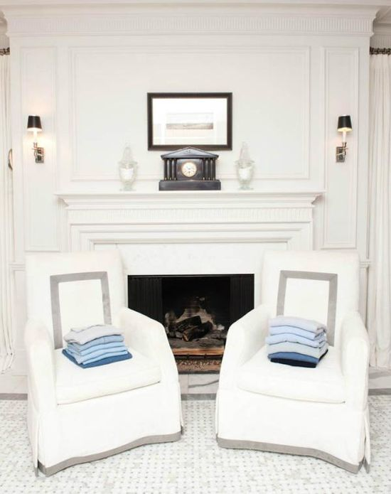 Terrycloth chairs for the bathroom