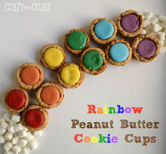 Rainbow Peanut Butter Cookie Cups