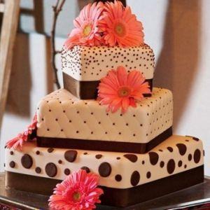 Square Fall Wedding Cakes