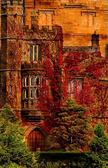 Hornby Castle, Lune Valley of county Lancashire, England.