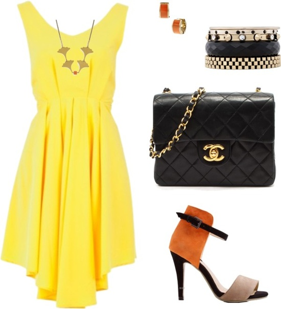 """spring dress"" by mara-montandon ❤ liked on Polyvore"