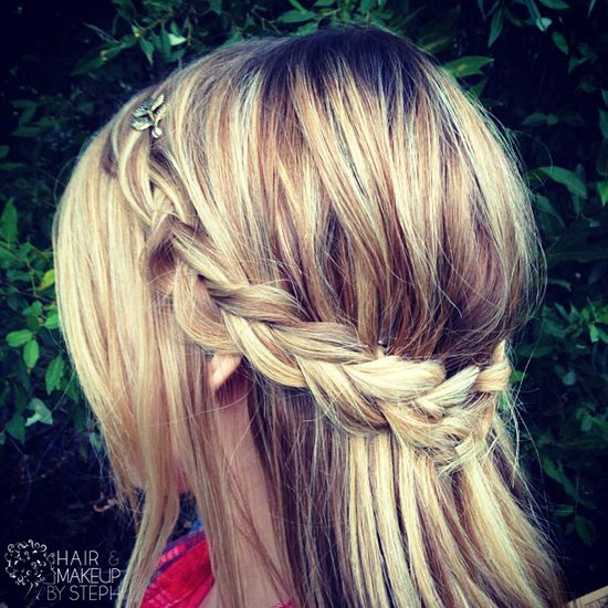 Simple halo braid for fall.