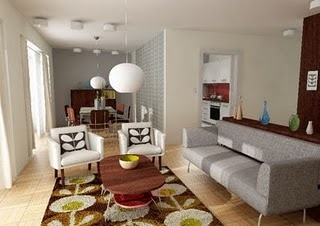 retro living room #orlakiely
