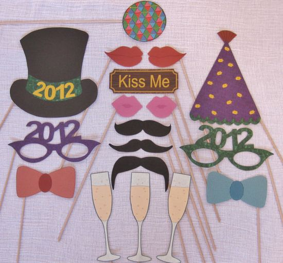 New Year Photo Booth Props - printable DIY   For you @Kerri Patton