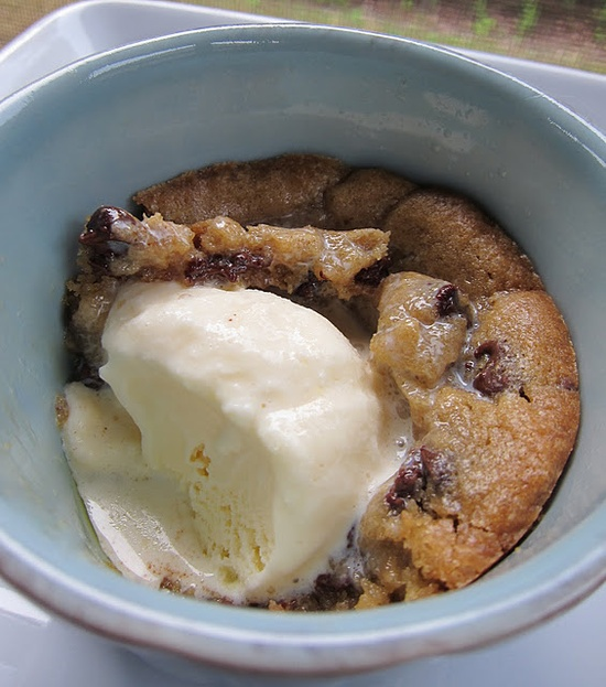 Deep Dish Chocolate Chip Cookie Sundaes