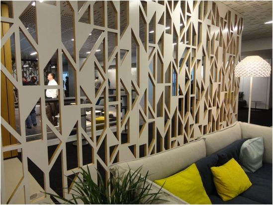 The angular trend was hot at NeoCon. #office #design