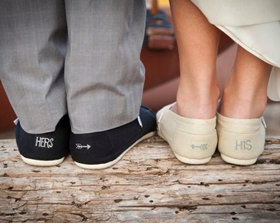 Toms for weddings.